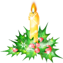 Candle, christmas ForestGreen icon