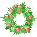holly, garland, christmas WhiteSmoke icon