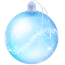 christmas, Ball, glass PaleTurquoise icon