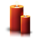 christmas, Candle Black icon