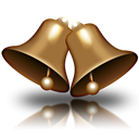 christmas, bell Black icon