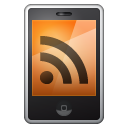 Rss, Mobile Black icon