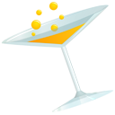 drink, Alcohol, glass, cocktail, martini, coctail LightSteelBlue icon