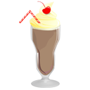 Chocolate, milkshake, food Gray icon
