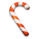 Candy, Cane, suger, christmas Black icon