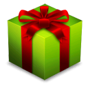 gift, present, Box, x-mas, christmas Black icon