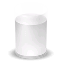 glass, milk Black icon