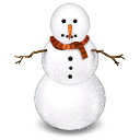 winter, snowman Black icon
