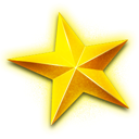 christmas, star Yellow icon