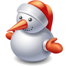 christmas, snowman Black icon
