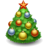christmas, Tree Black icon