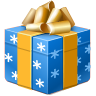 christmas, present, gift Black icon