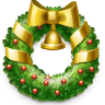 wreath, christmas Black icon
