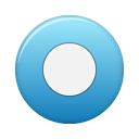 Blue, rec, button SteelBlue icon
