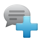 Add, Comment SteelBlue icon