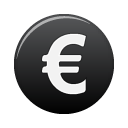 Euro, Currency DarkSlateGray icon