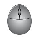 Gray mouse, Mouse, oval mouse Gray icon