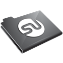 Stumbleupon, grey Black icon