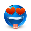 valentine's day, smiley, love DodgerBlue icon