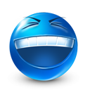 laugh, smiley, rofl, funny, happy, Bizzare MidnightBlue icon