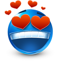 valentine's day, Heart, love, smiley MidnightBlue icon