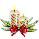 christmas, Candles Ivory icon