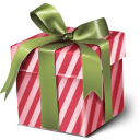gift, present, christmas, xmas IndianRed icon