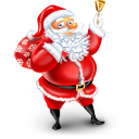 christmas, santa Black icon