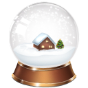 snowglobe, christmas LightGray icon