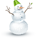 winter, snowman LightSlateGray icon