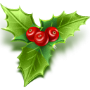christmas, mistletoe DarkGreen icon