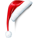 hat, santa, santas hat, christmas Black icon