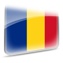 romania, flag Gold icon