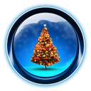 christmas, dooffy, 0005, Tree, ikony MidnightBlue icon