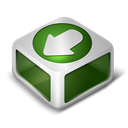 download, green Black icon