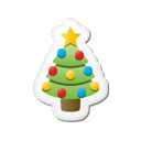 sticker, xmas Black icon
