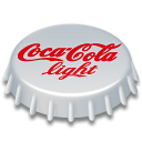 Coca, 128, cola, light Silver icon