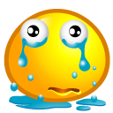 Cry, sad Orange icon
