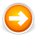 Forward, right, Orange, lanjut, next, Arrow LightGray icon