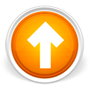 Arrow, Orange, Orb, Up LightGray icon
