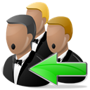 sing, song, Arrow, Choir Black icon
