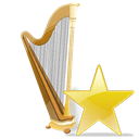 star, Recyclebin Black icon