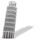 tower, Building, italy, pisa Black icon