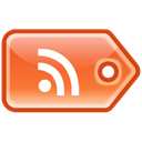 Rss, tag, feed LightSalmon icon