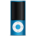 Apple, Blue, ipod Black icon