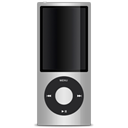 ipod, Apple, silver Black icon