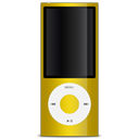 Apple, yellow, ipod Black icon