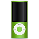 ipod, nano, 5g, green Black icon