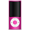 ipod, nano, 5g, pink Black icon