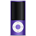 ipod, purple, 5g, nano Black icon